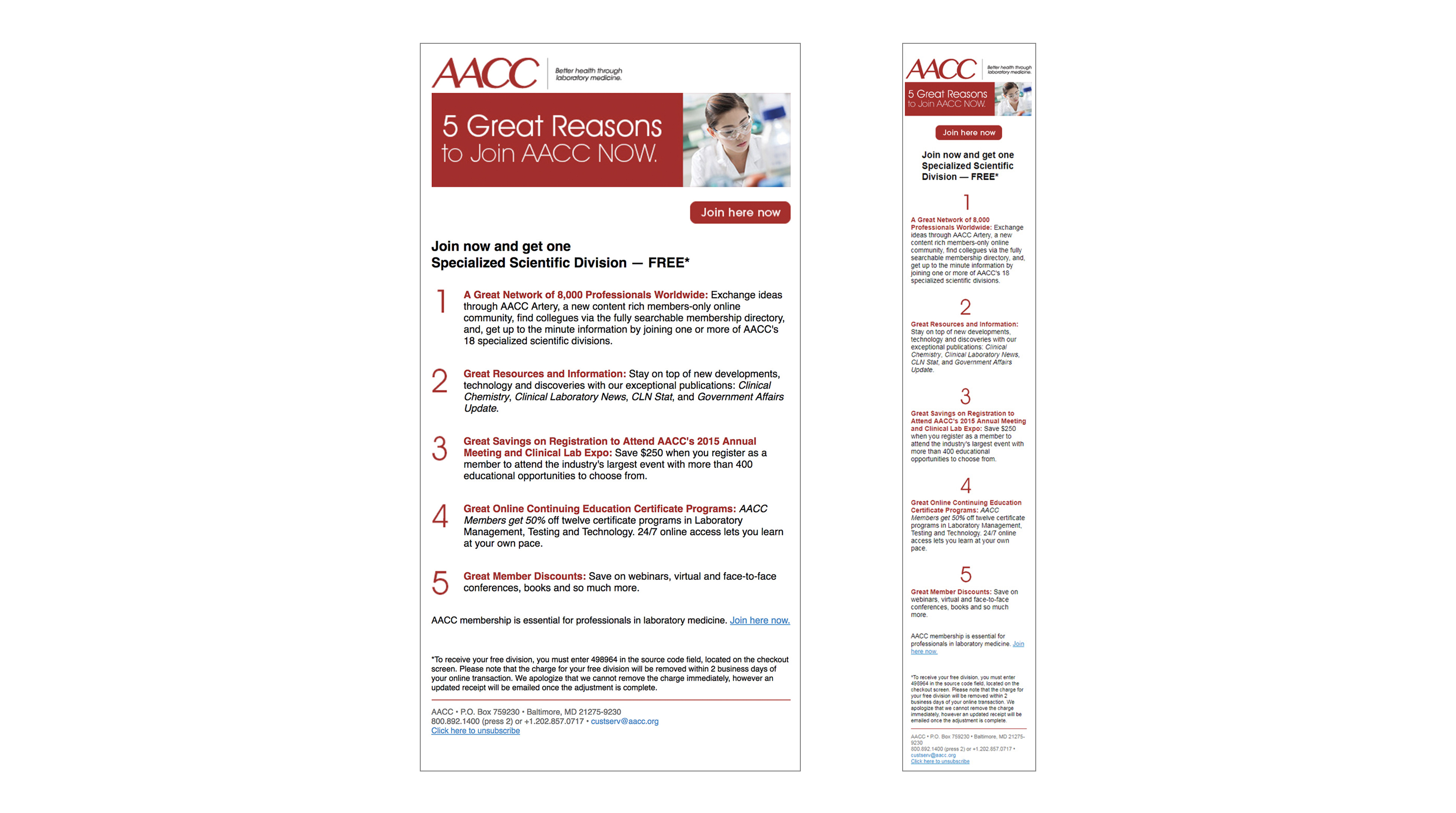 AACC HTML email