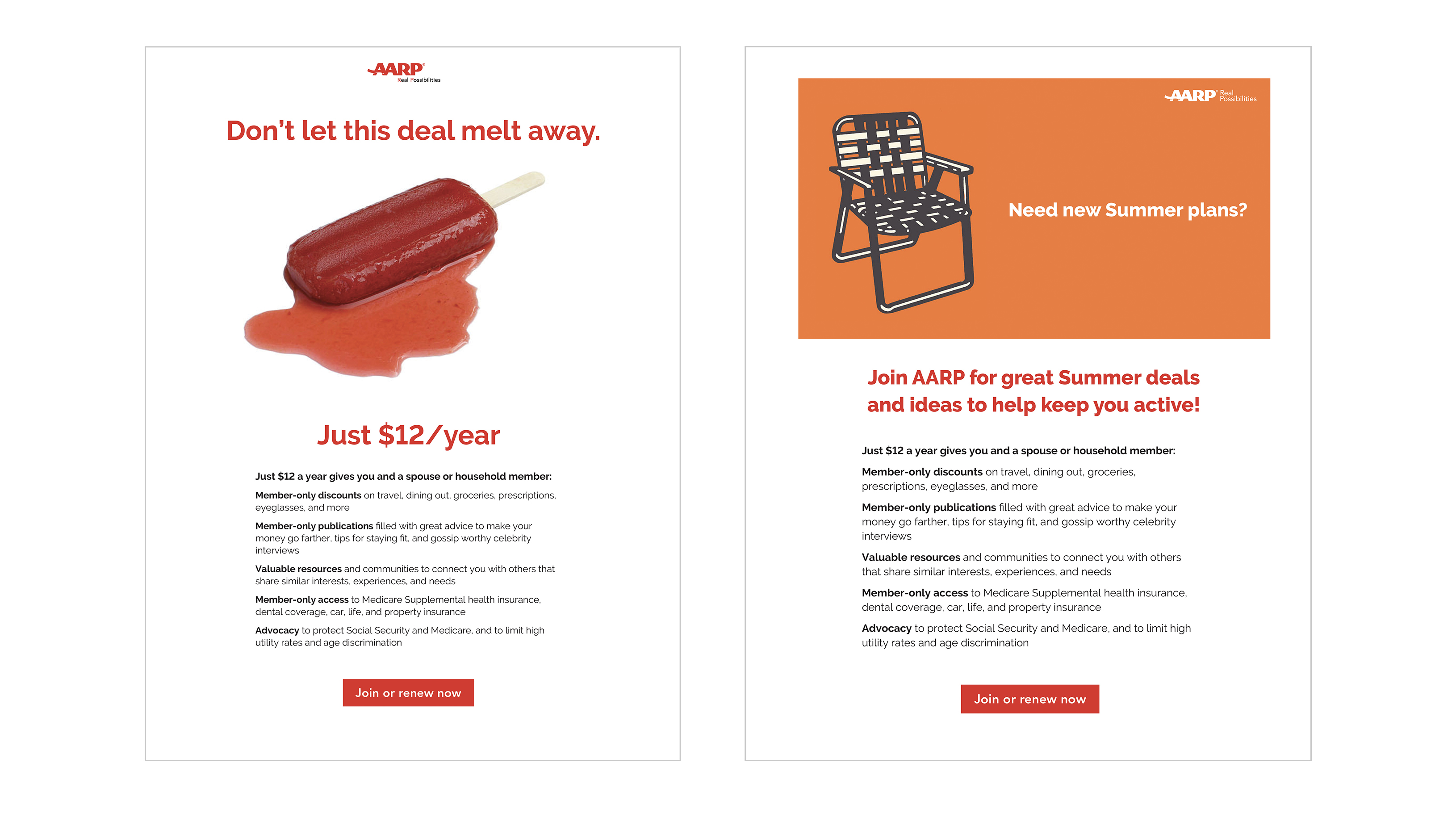 AARP HTML emails